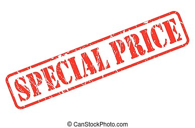 Special price red stamp text