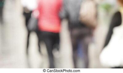 people walk on the street