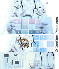 Collage of Various modern medical concept