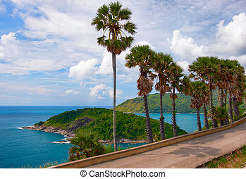 Promthep Cape on Phuket island - Andaman sea and Ko Man near...