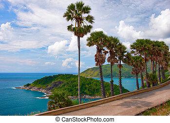 Promthep Cape on Phuket island - Andaman sea and Ko Man near...