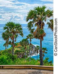 Promthep Cape on Phuket island - Andaman sea near Promthep...