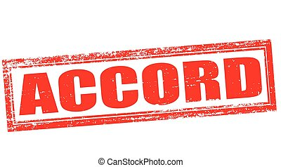 Accord - Stamp with word accord inside, vector illustration