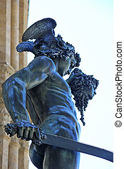 Perseus with the Head of Medusa - details of the bronze...