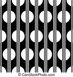 art deco black and white seamless p - vector illustration of...