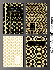 Art deco Brochure covers - vector set of brochure, flyer or...