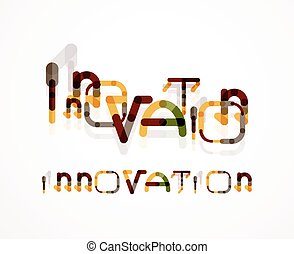 Innovation word concept