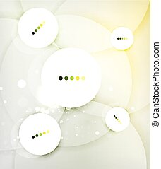 Color circles composition, rings with shadows Abstract...