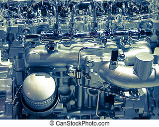 car engine - close up car engine compartment