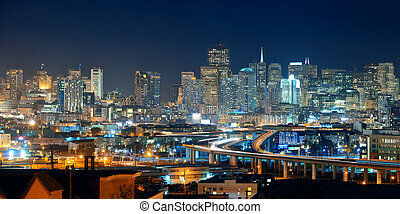 San Francisco skyline - San Francisco city skyline with...
