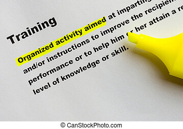 Training - Definition of Training