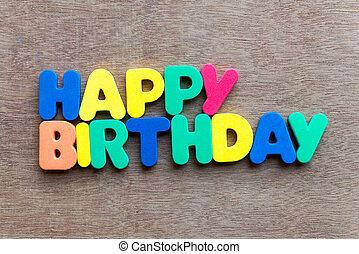Feliz, aniversário,