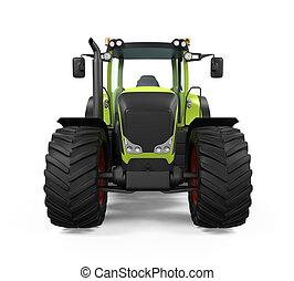 vert, tracteur, isolé,