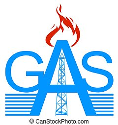 Gas - Icon gas industry. Illustration on white background.