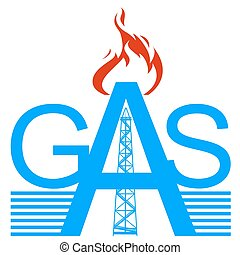 Gas - Icon gas industry Illustration on white background