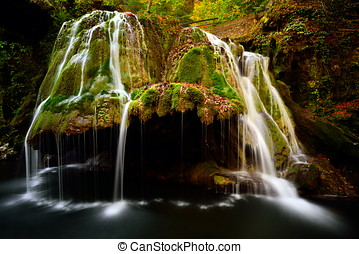 Bigar waterfall located at the intersection with the...
