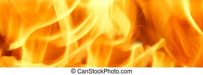 Fire Flames - Abstract Fire Flames Isolated Background.