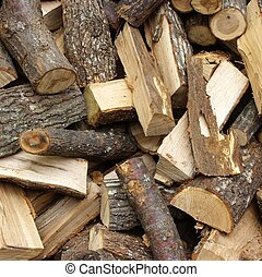Woodpile Background and Texture for text or image