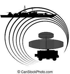Radar - Contour warship detected radar. The illustration on...