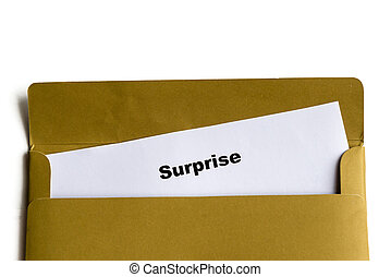 surprise word in the envelope
