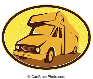 camper-van-front - Illustration of camper van mobile home...