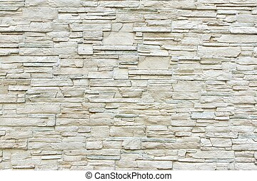 White Artificial Stone Wall Background and Texture for text...