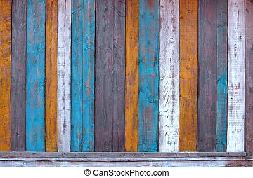 Colorful Wooden Plank Panel Background and Texture for text...