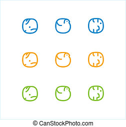 stylized animal icon - Set of stylized animal icons: bird,...