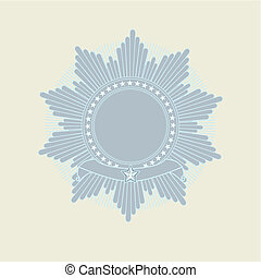 Insignia - star shaped with banner Blank so you can add your...
