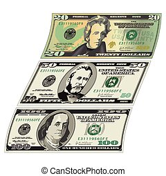 Stylized drawings of Bills for Print or Web