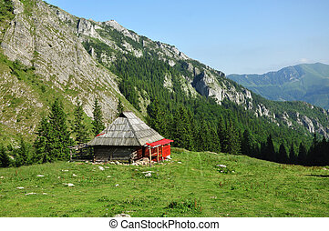 Mountain hut, lodge