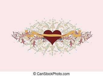 ornate heart