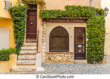 Entrance to the old French house