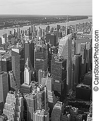 Aerial view of NYC - Aerial view of New York City from the...