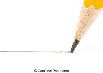 Pencil 2 - a straight line drawn with the pen is yellow on a...