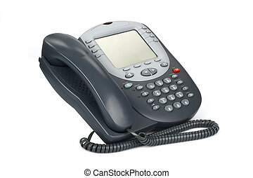 Voip Phone 3 - Digital VoIP phone (isolated on white)