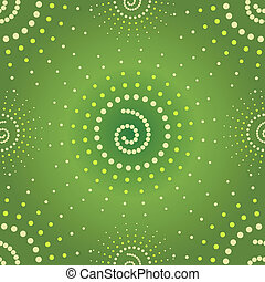 Abstract seamless green pattern (vector)