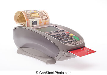cash card - Swiping of the credit card for payment...