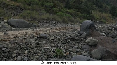 4K, Barranco De Las Angustias - Beautiful gorge on La Palma,...