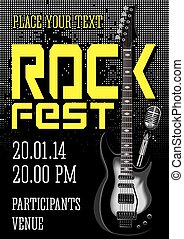 Rock festival design template with