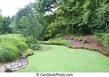 Manicured Lawn and Garden - A well tended and landscaped...