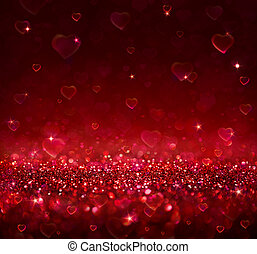 valentine background with hearts - valentine background with...