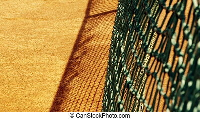 Tennis net with shallow depth of field - Detail of tennis...
