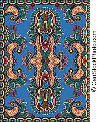 ukrainian floral carpet design for print on canvas or paper...