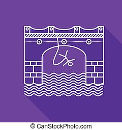 Flat line vector icon for rope jumping - Flat line vector...