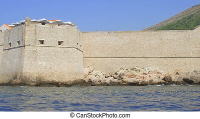 Dubrovnik Porporela - St. John fortress at the east entrance...