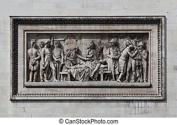 Relief at Arc de Triomphe - Detailed picture of the relief...