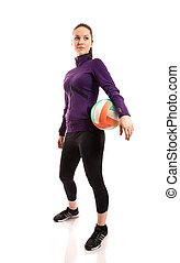 voleibol, jugador,