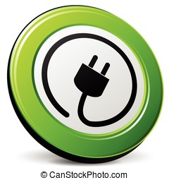 electric plug icon - illustration of electric plug design...
