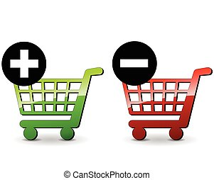 shopping icons - illustration of shopping icons for add and...